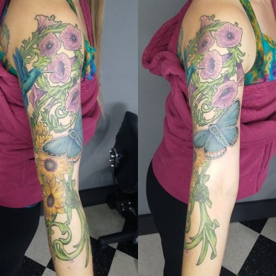floral sleeve tattoo5