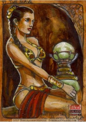 Topps Star Wars Galaxy sketch card by Soni Alcorn-Hender