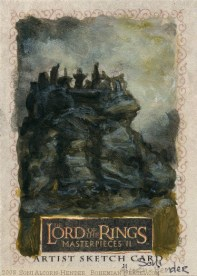Weathertop Topps Lord of the Rings LotR Masterpieces 2 sketch card by Soni Alcorn-Hender