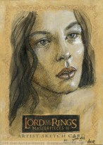 'And to that I hold...' Topps Lord of the Rings LotR Masterpieces 2 sketch card by Soni Alcorn-Hender