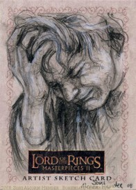 Dimrill Dale, Topps Lord of the Rings LotR Masterpieces 2 sketch card by Soni Alcorn-Hender