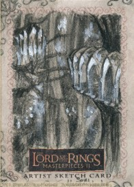 Caras Galadhon Topps Lord of the Rings LotR Masterpieces 2 sketch card by Soni Alcorn-Hender