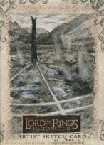 Isengard smokes and steams Topps Lord of the Rings LotR Masterpieces 2 sketch card by Soni Alcorn-Hender