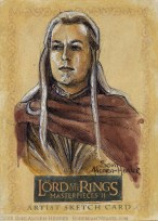 The Elven Host Topps Lord of the Rings LotR Masterpieces 2 sketch card by Soni Alcorn-Hender