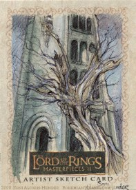 The White Tree Topps Lord of the Rings LotR Masterpieces 2 sketch card by Soni Alcorn-Hender