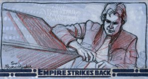 Topps Empire Strikes Back 3D sketch card by Soni Alcorn-Hender