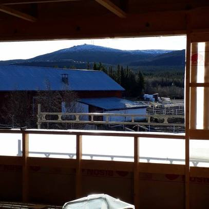 Utsikten från övervåningen vi isolerade i Gällivare