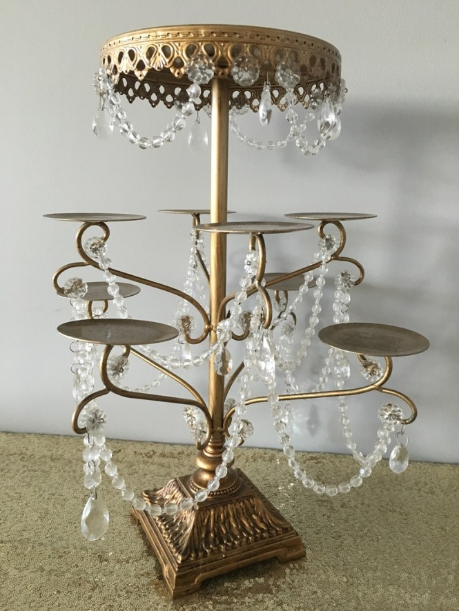 Gold And Crystal Chandelier Cupcake Stand