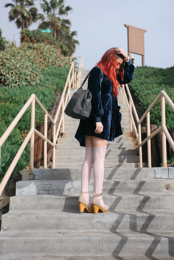 free-people-fpme-choose-me-velvet-mini-pointelle-thigh-high-socks-jeffrey-campbell-clogs-overtone-ettika-fashion-blogger-beach-california-23