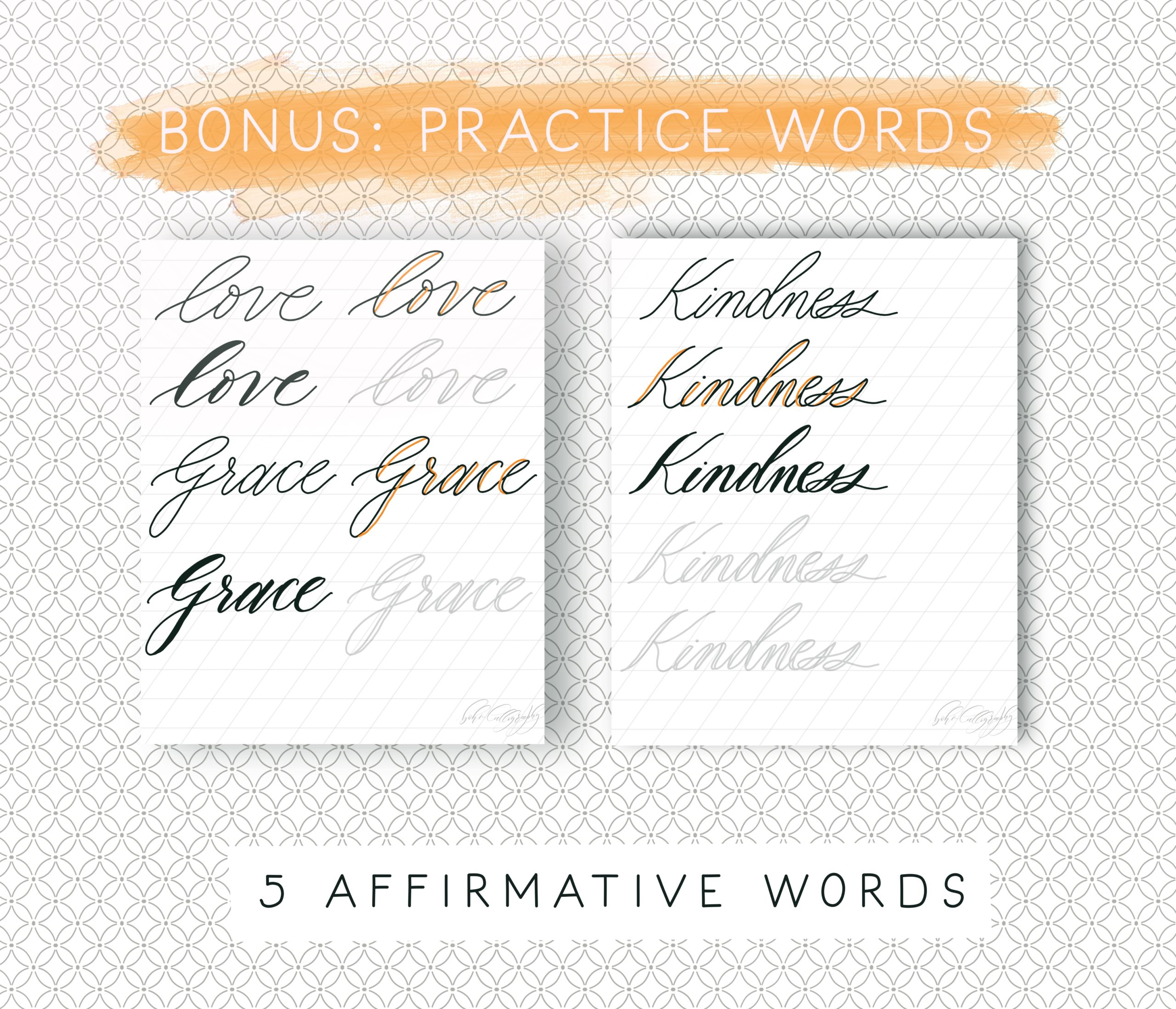 Faux Calligraphy Printable Worksheets Learn Modern Calligraphy