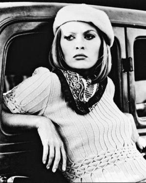 Faye Dunaway in Bonnie & Clyde, 1967 (directed by Arthur Penn starring Warren Beatty and Faye Dunaway)