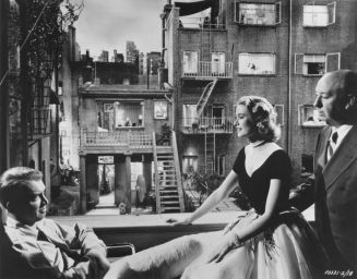 Alfred Hitchcock's Rear Window starring Jimmy Stewart and Grace Kelly