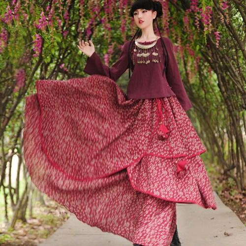 Boshow многослойная юбка в цветочек