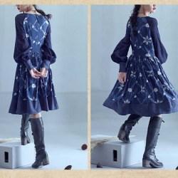 Artka синее миди-платье