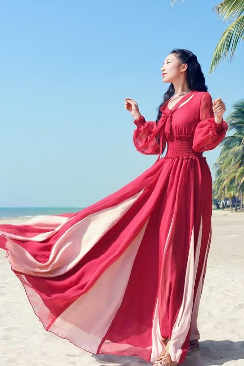 Boshow платье с бантом на груди