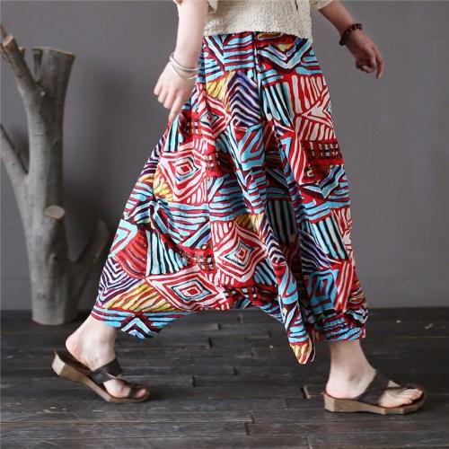 Pale ink свободные брюки с ярким принтом