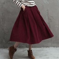 Young times вельветовая юбка с карманами