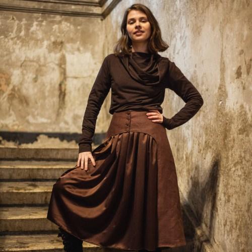 WonderMary юбка шоколадного цвета