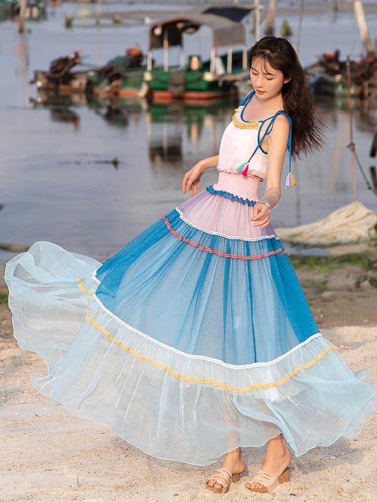 Boshow лоскутное платье