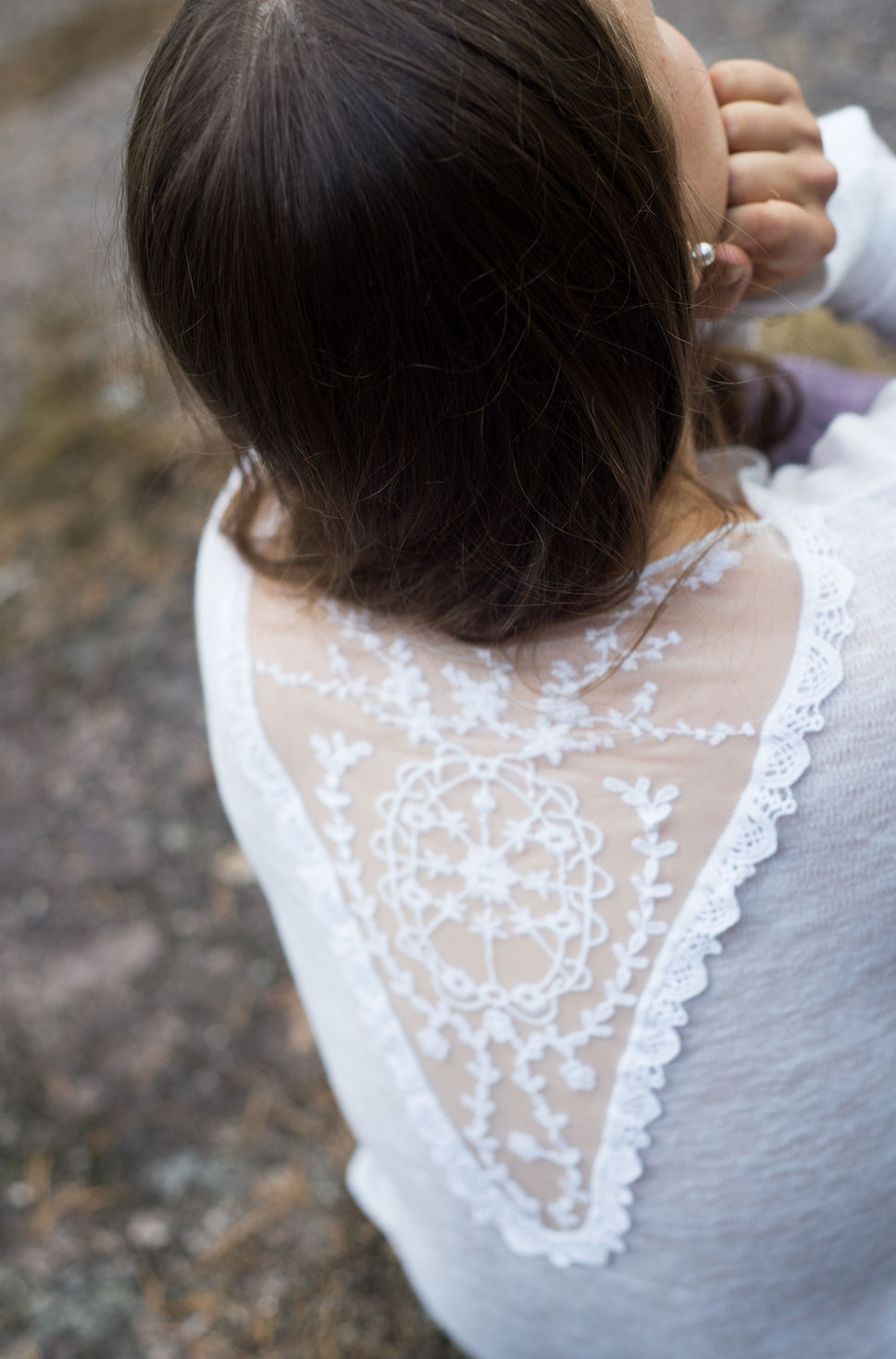 """So-obraz блузка с кружевной спиной """"Ничего лишнего"""""""