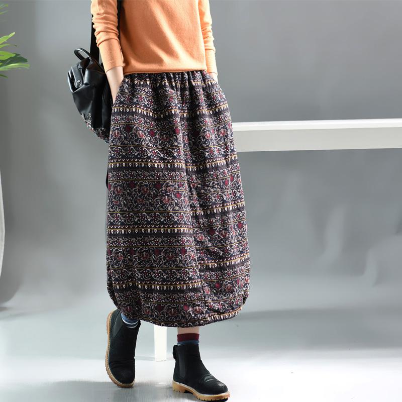 Sweet corset теплая юбка с этническим рисунком