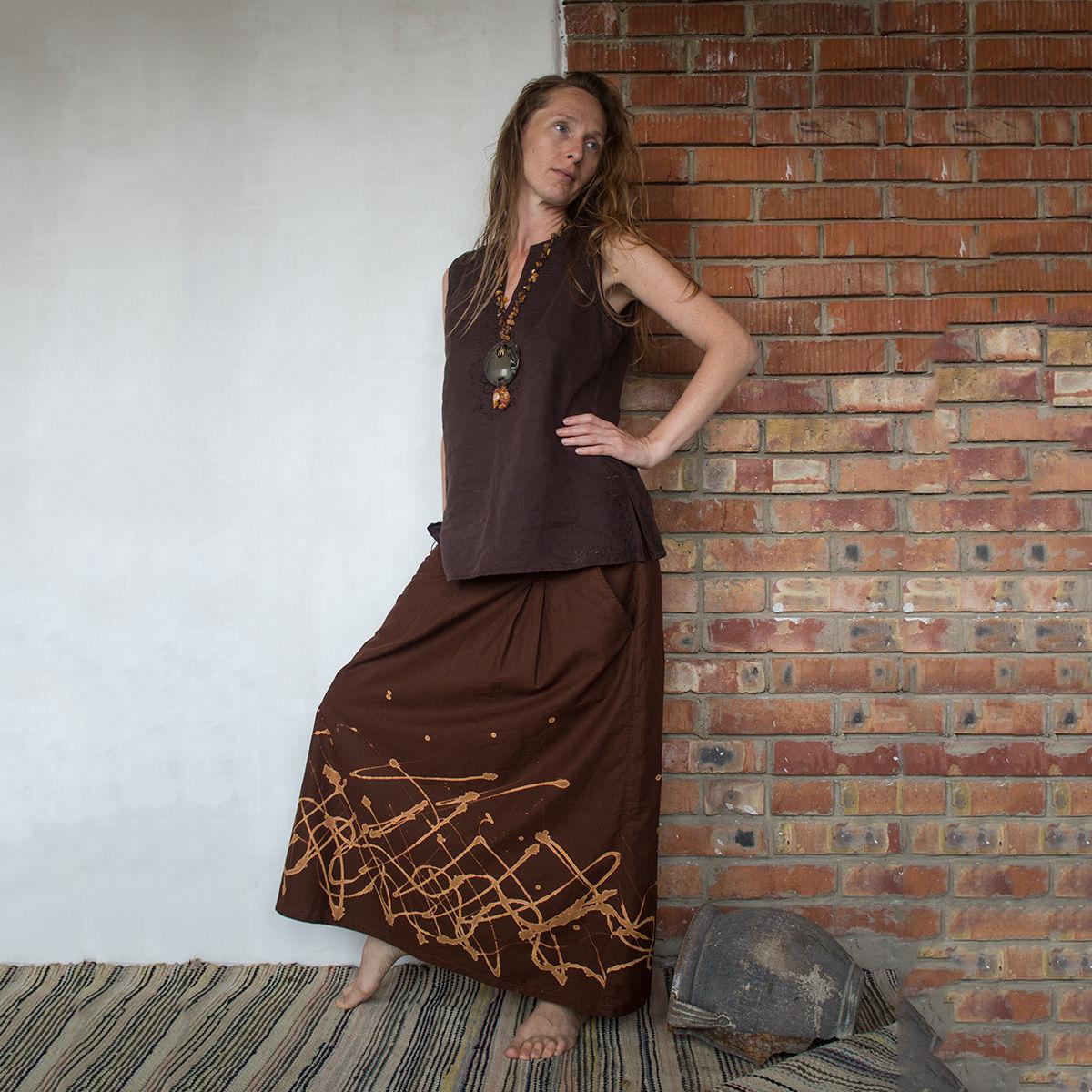 MarlЁn юбка Шоколад с молоком