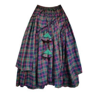 Многослойные юбки в клетку (шоу-рум)