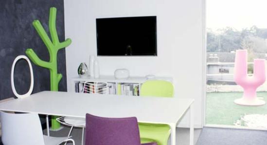 Vue de l'écran de la salle de réunion Bo Home