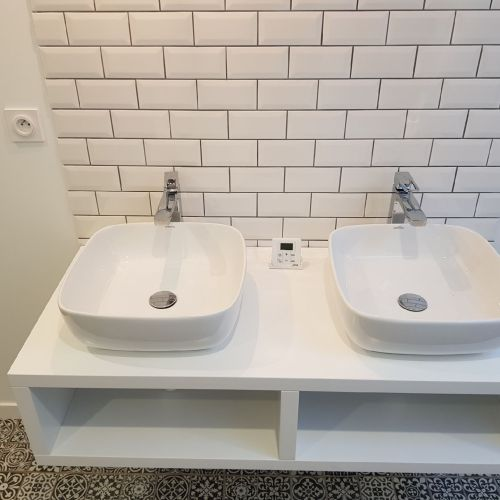 Rénovation d'une salle de bain-vasques