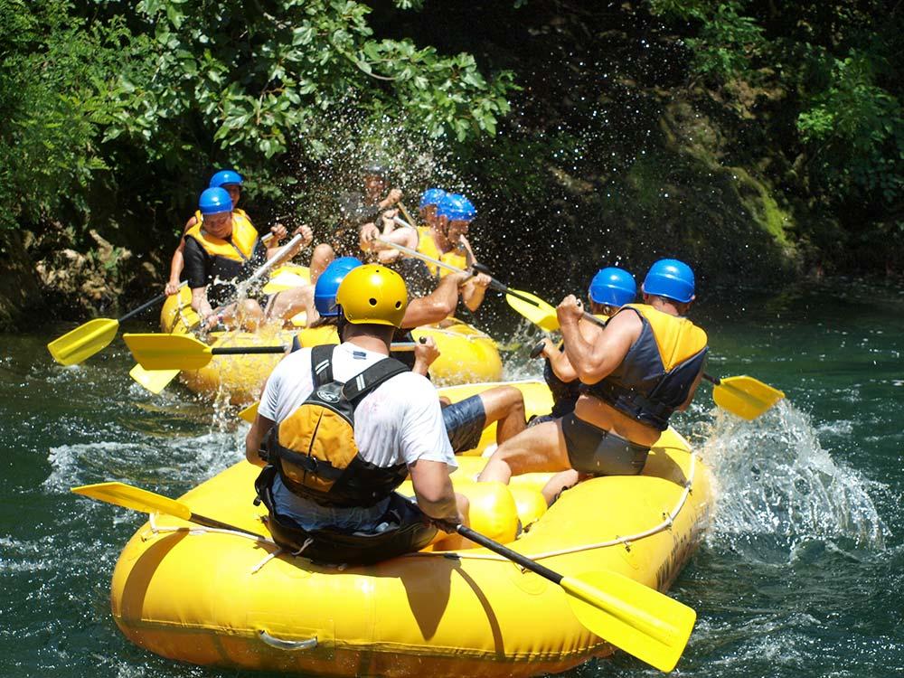 Boho travel art, rafting on the Cetina riverBoho travel art, rafting on the Cetina river