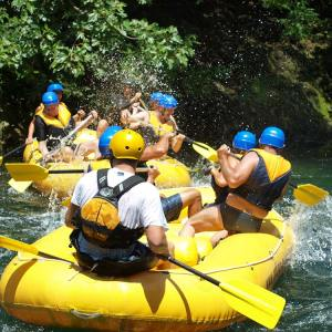 Boho travel art, rafting on the Cetina riverBoho travel art, rafting on the Cetina river
