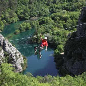 Boho travel art zip line