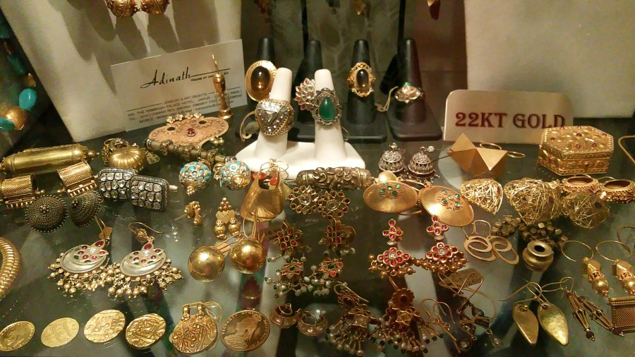 Selection of Rings and other Jewelry at the Rambagh Palace
