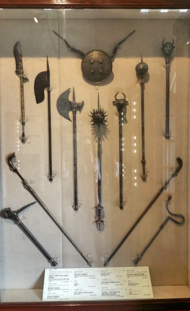 battle axes, weapons, albert hall, india, jaipur, museums, history, artifacts, axe