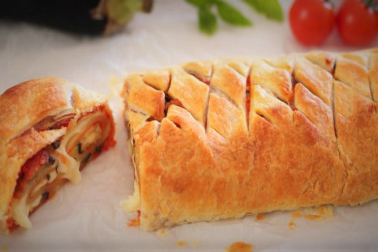 Parmesan roll of pastry