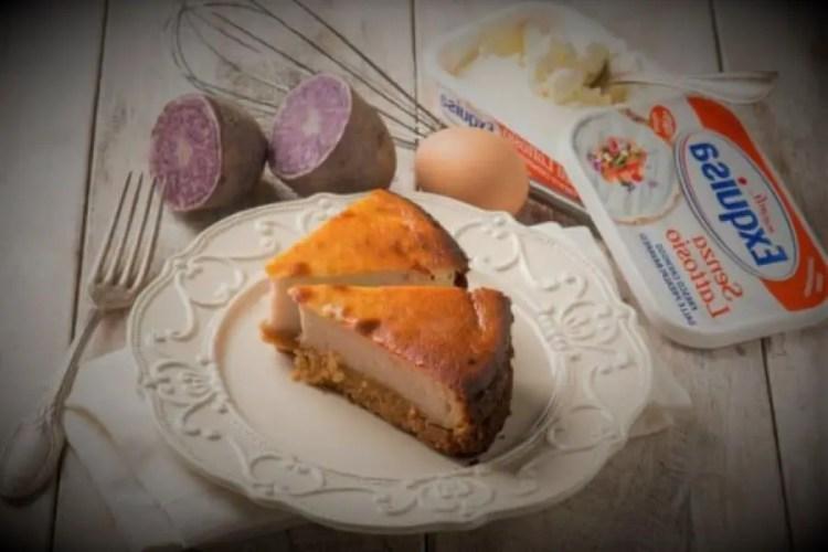 purple potato cheesecake