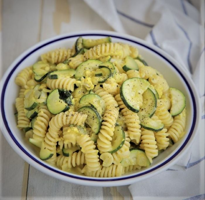 vegetarian zucchini carbonara