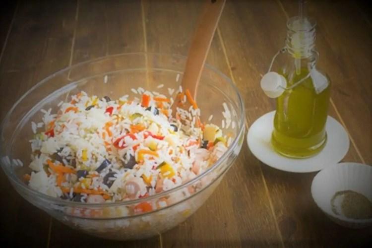 wild rice spinach salad