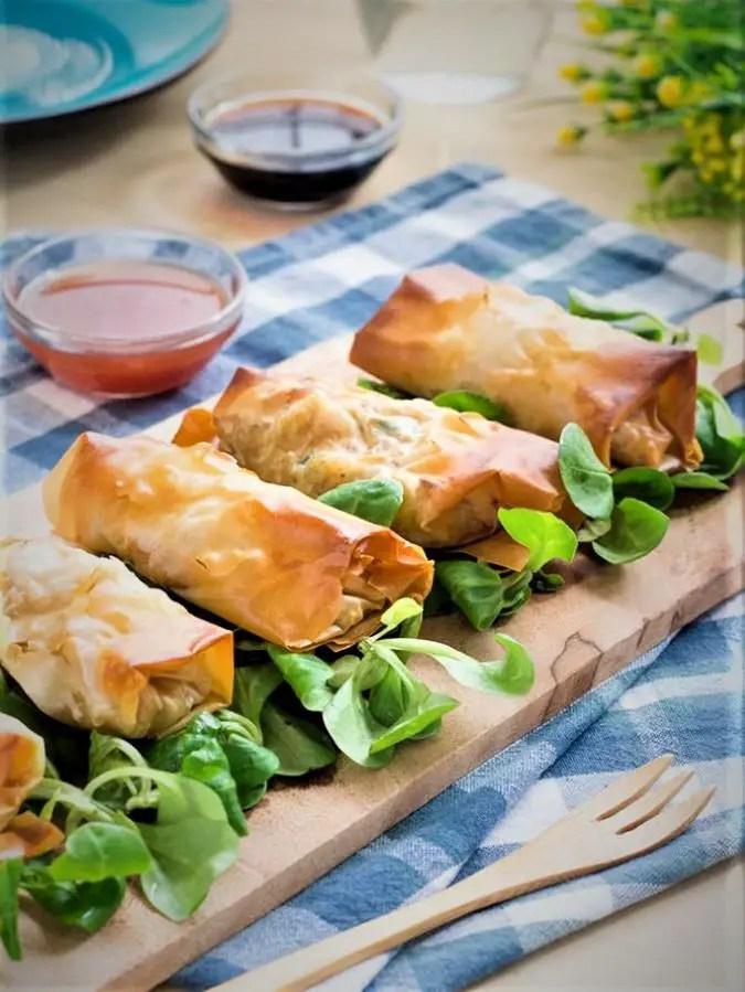 Thai vegetable spring rolls