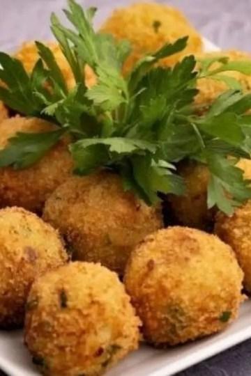 Salmon and potato balls