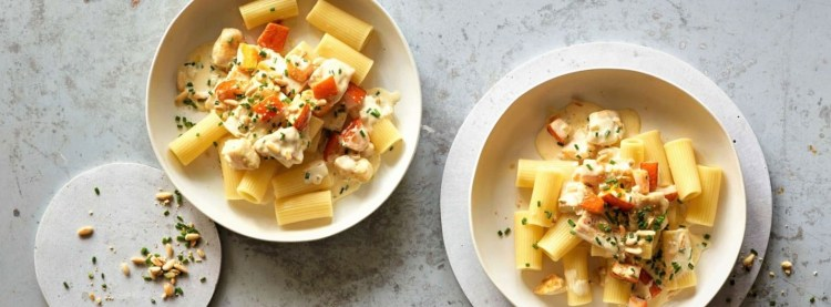 pasta with chicken and pumpkin