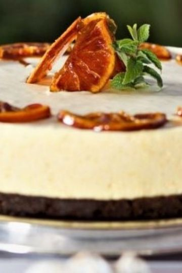 orange and chocolate cheesecake