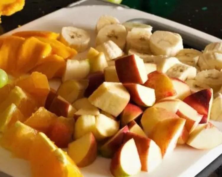 Fruit Salad with Condensed Milk