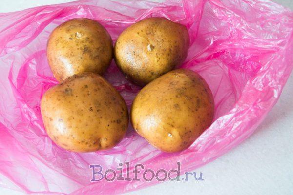 картошка в пакете