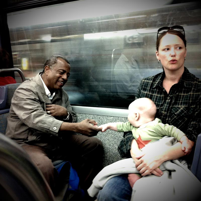 A moment on the metro