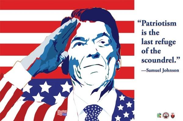 Reagan FlagSuit flat