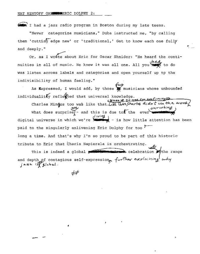 Hentoff on Dolphy - Page 2