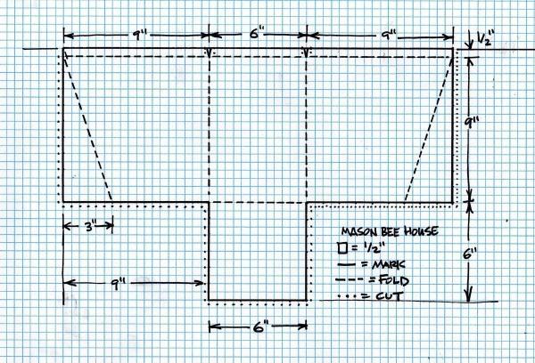 mason bee grid pattern
