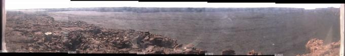 """Live Panorama of Mokuʻāweoweo Caldera from the Northwest Rim. 2014-06-18 09:40:30 (HST)."" USGS."