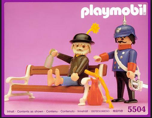 Playmobil homeless
